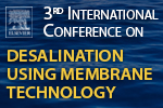 3rd International Conference on Desalination using Membrane Technology