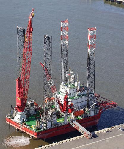 Seajacks Builds Wind Farm Installation Vessel Renewable