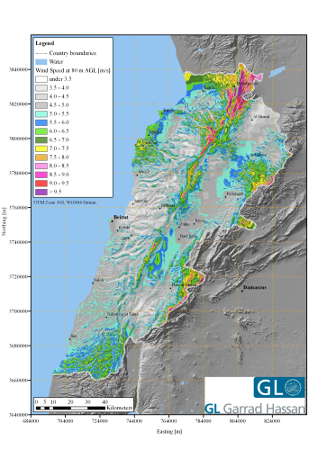 Wind Map Of Lebanon Renewable Energy Focus