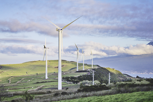 Renewables such as wind power can be one of the sources for microgrids.