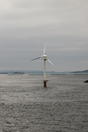 Sway Offshore Wind Turbine Prototype Installed Renewable
