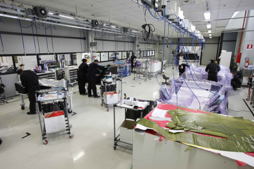 The clean room at the sant agata cfrp production plant